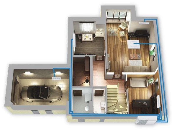 Приклад використання мультиспліт систем для кондиціонування будинку