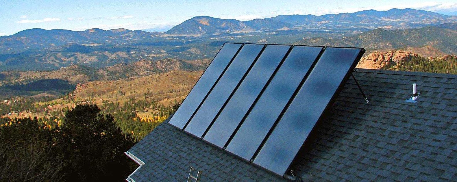 Плоские солнечные коллекторы. Пример использования