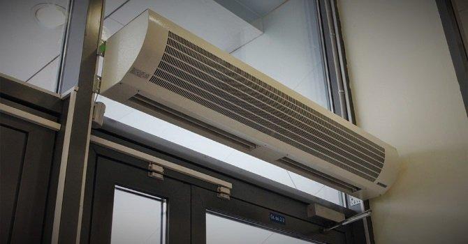 Применение тепловой завесы в помещении