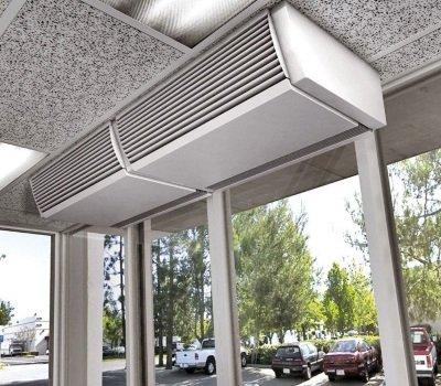 Устройство тепловой завесы в помещении