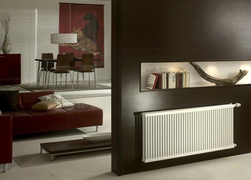 Стильный радиатор отопления в интерьере