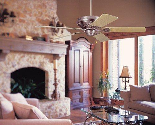 Красивое сочетание потолочного вентилятора с интерьером помещения