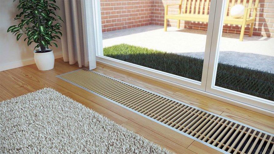 Пример использования внутрипольного конвектора в квартире