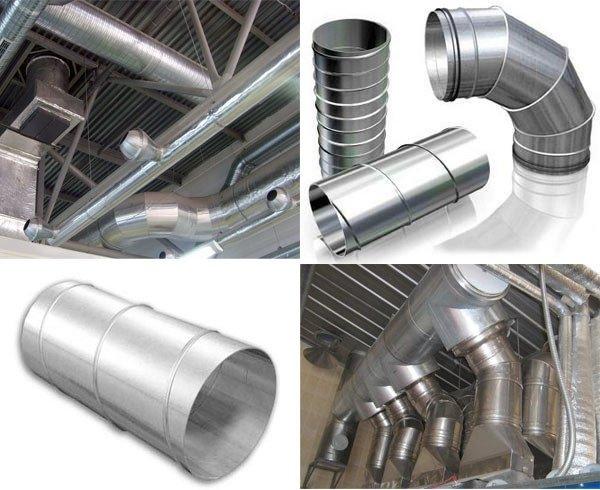 Пример воздуховодов для вентиляции помещения