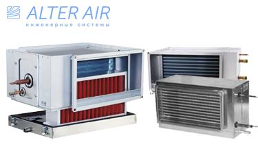 Воздухоохладитель прямоугольного сечения