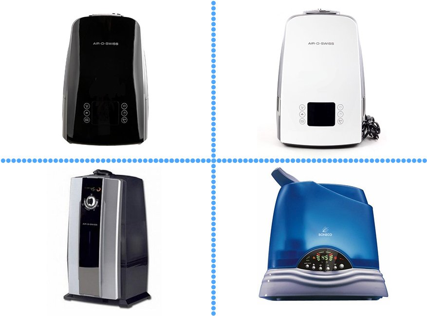 Модели увлажнителей воздуха от Boneco, Air-o-Swiss и Valore