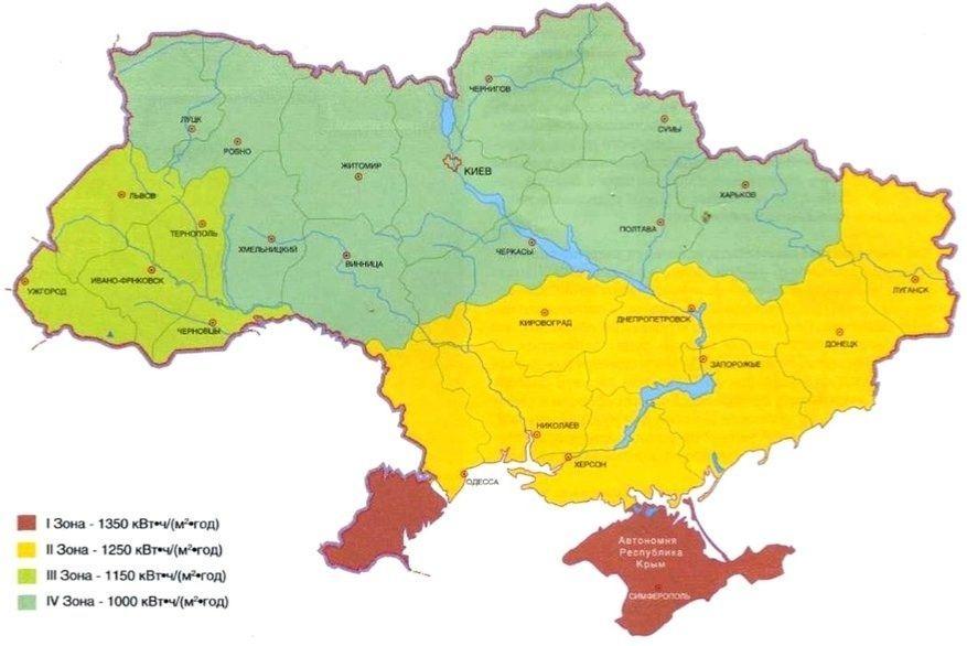 Сонячне випромінювання в Україні