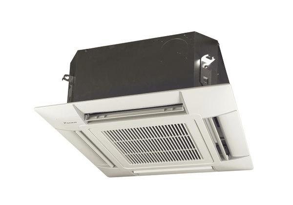 сплит-ситемы кондиционирования с внутренним блоком кассетного типа.
