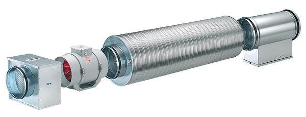 Применение канального вентилятора Vortice Lineo в наборной системы вентиляции