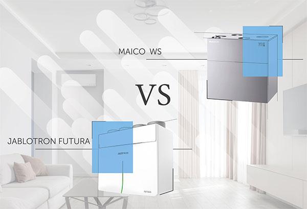 Сравнение работы установок MAICO WS и JABLOTRON FUTURA