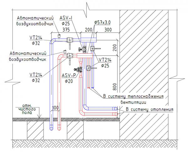 Схема-план системи опалення