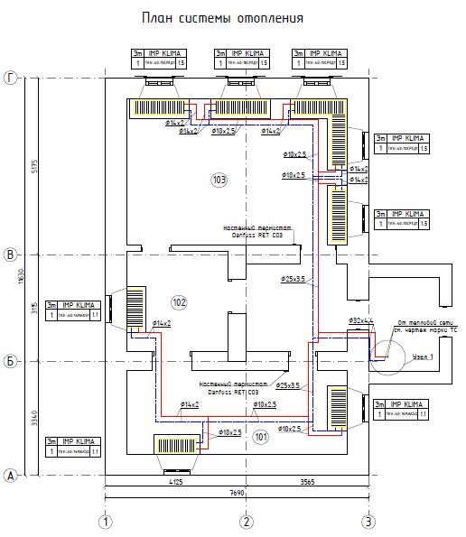 План системи опалення