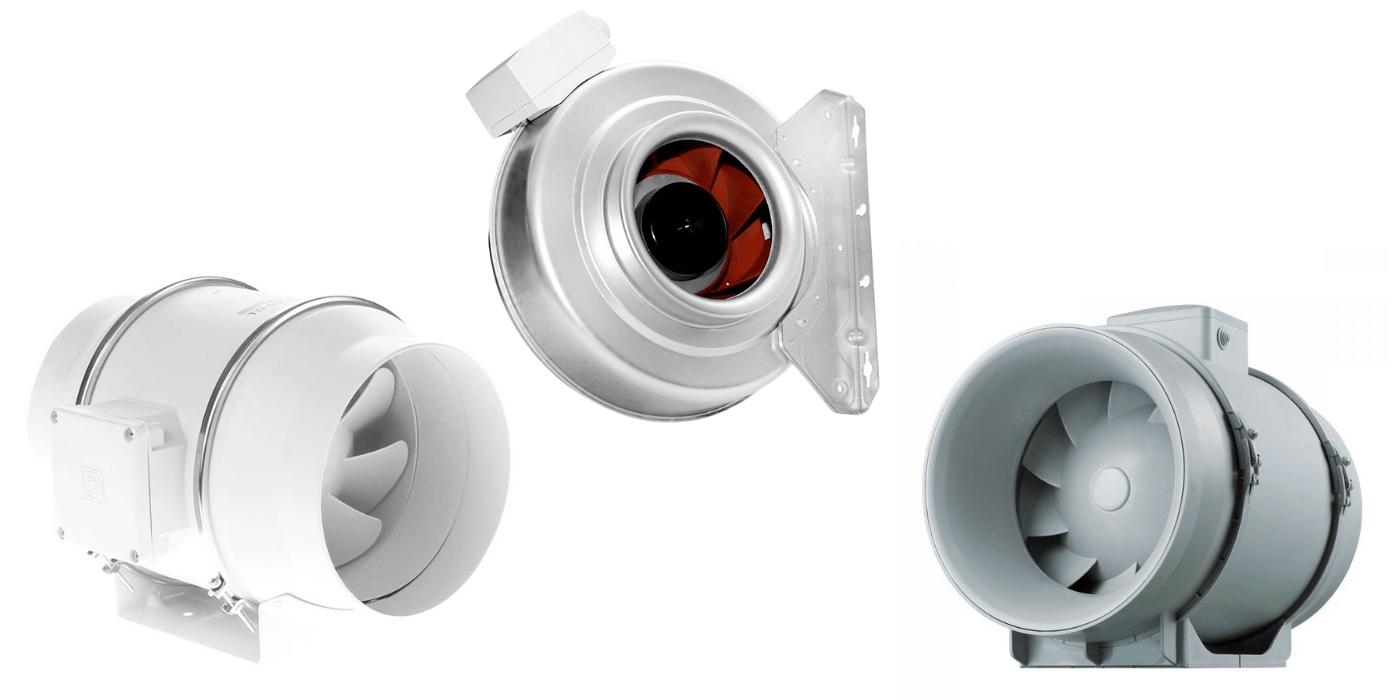 Різноманітність канальних вентиляторів