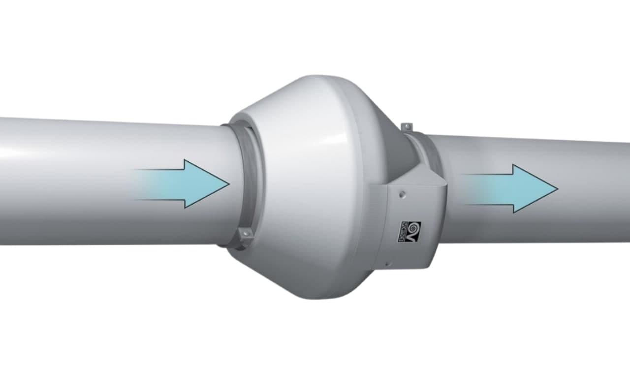 Принцип установки канального вентилятора