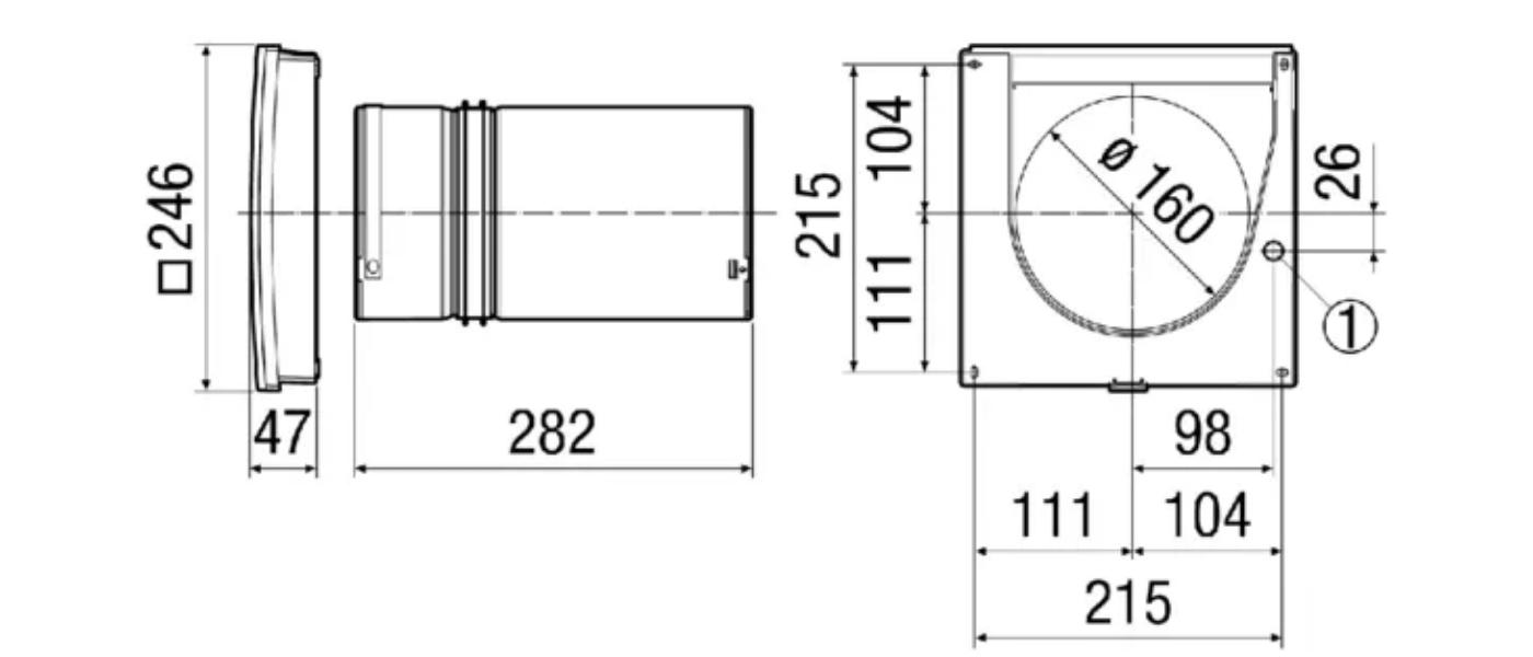 Размеры вентилятора
