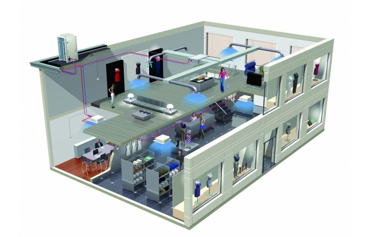 Схема кондиціонування офісного приміщення