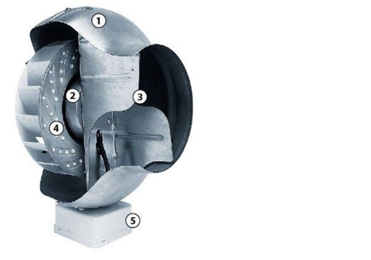 Схема канального вентилятора Ostberg CK