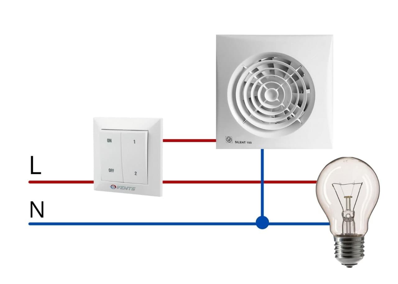 Схема подключения бесшумного вентилятора