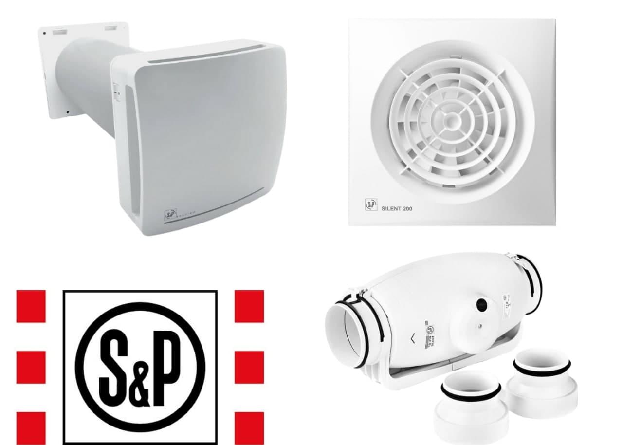 Вытяжные вентилятора различных видов бренда Soler&Palau