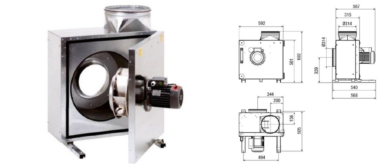 Вентилятор Maico EKR : схема