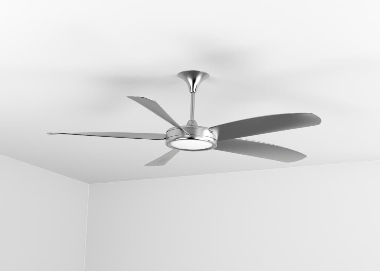 Пример потолочного вентилятора в комнате
