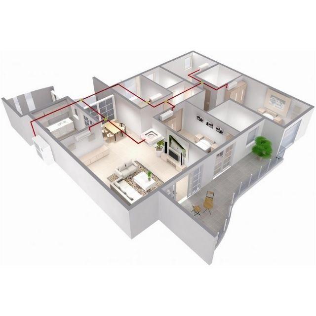 Пример работы системи кондиционирования в частном доме