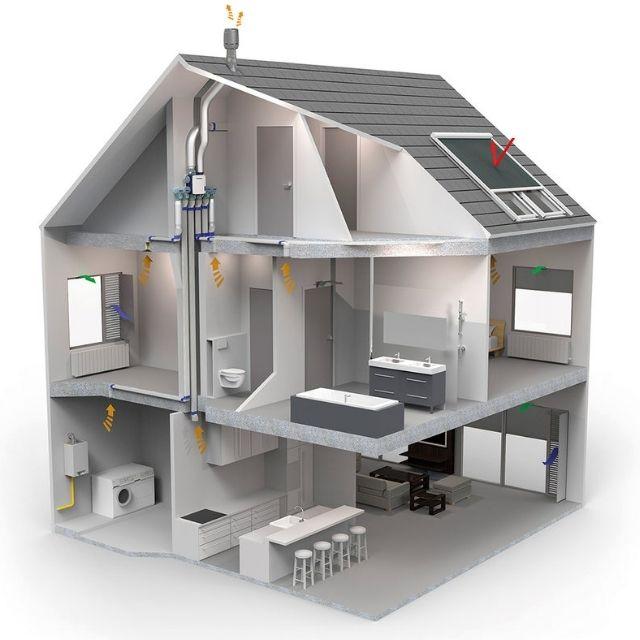 Пример схемы работы вентиляции