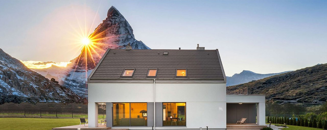 Частный дом с системой вентиляции