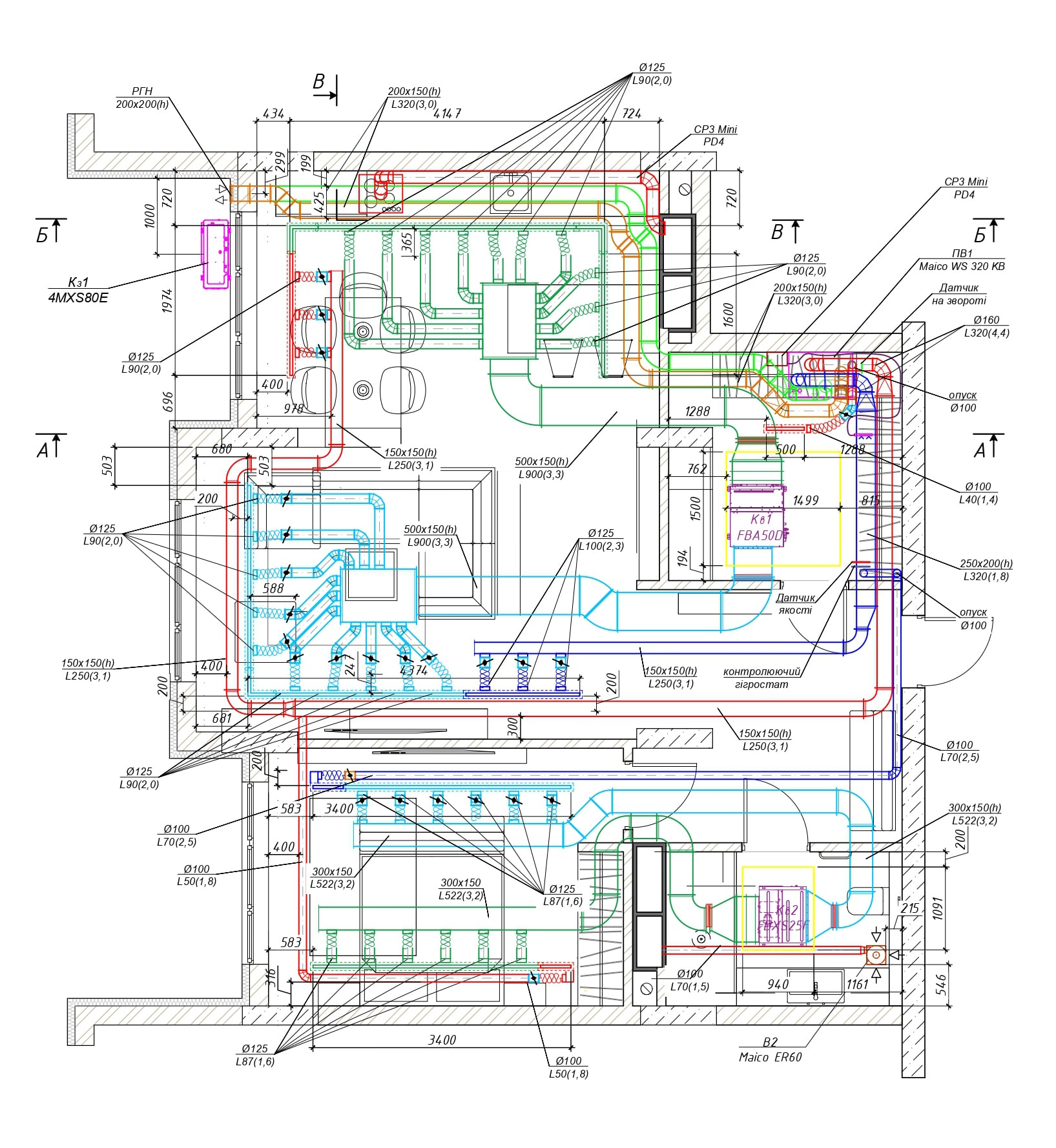 Система канального кондиционирования
