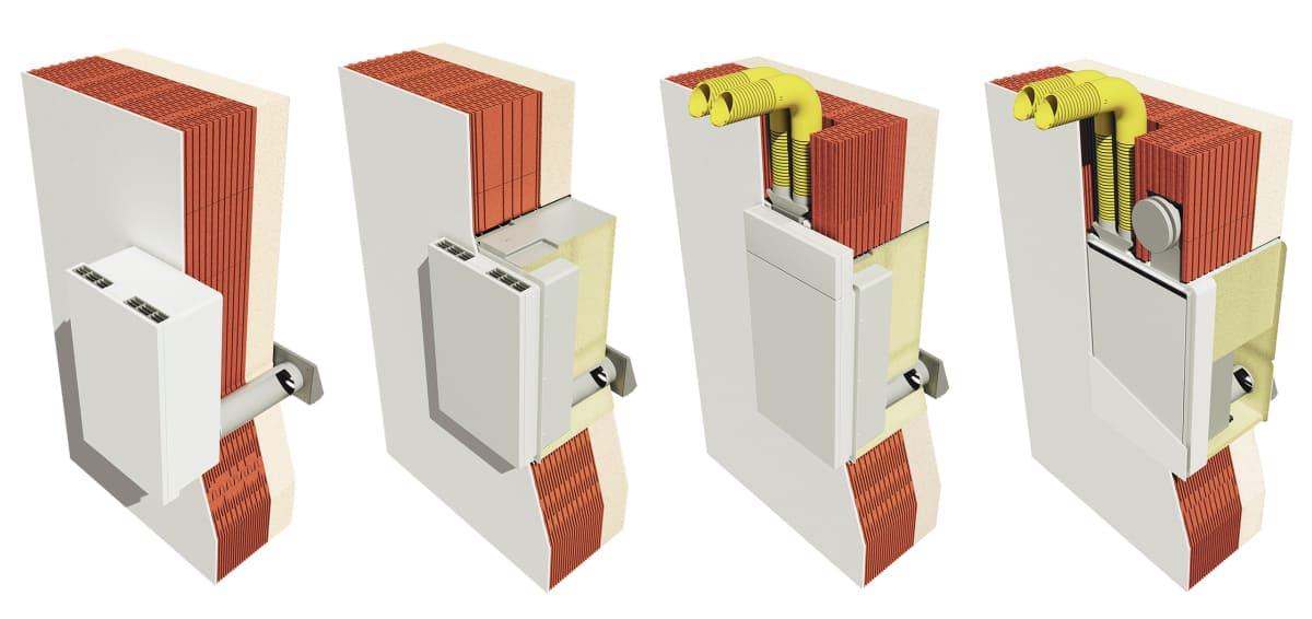 Пример вариантов монтажа вентустановки