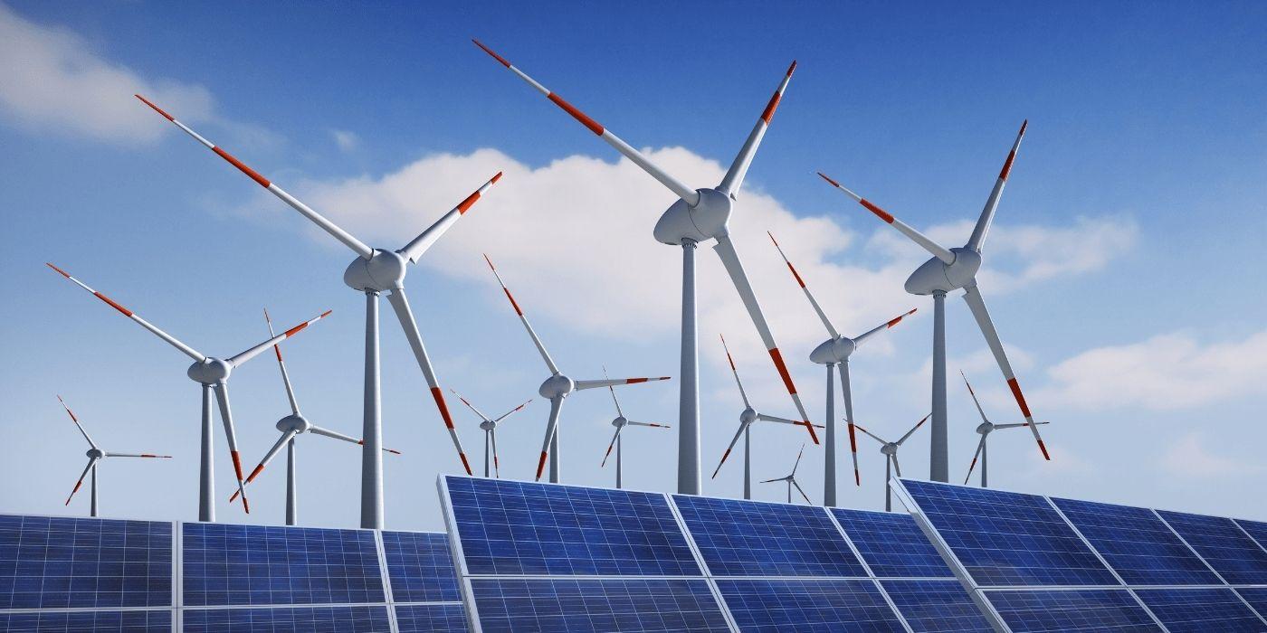 Вітрогенератори і сонячні батареї