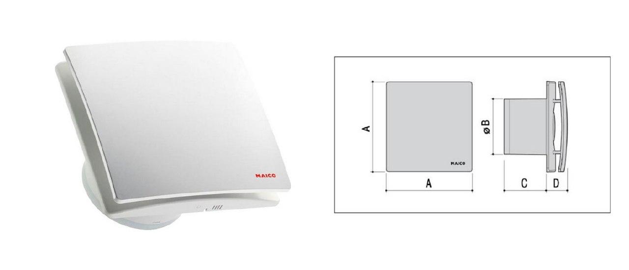 Вентилятор бытовой для вытяжки Maico AWB: схема строения