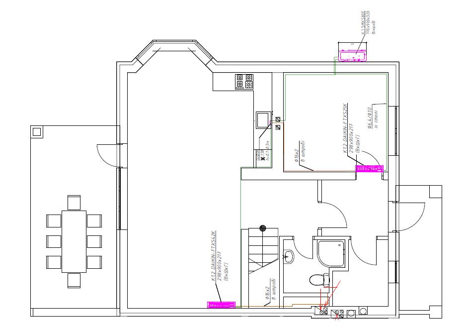 Мульти-сплит-система для кондиционирования 2-комнатной квартиры