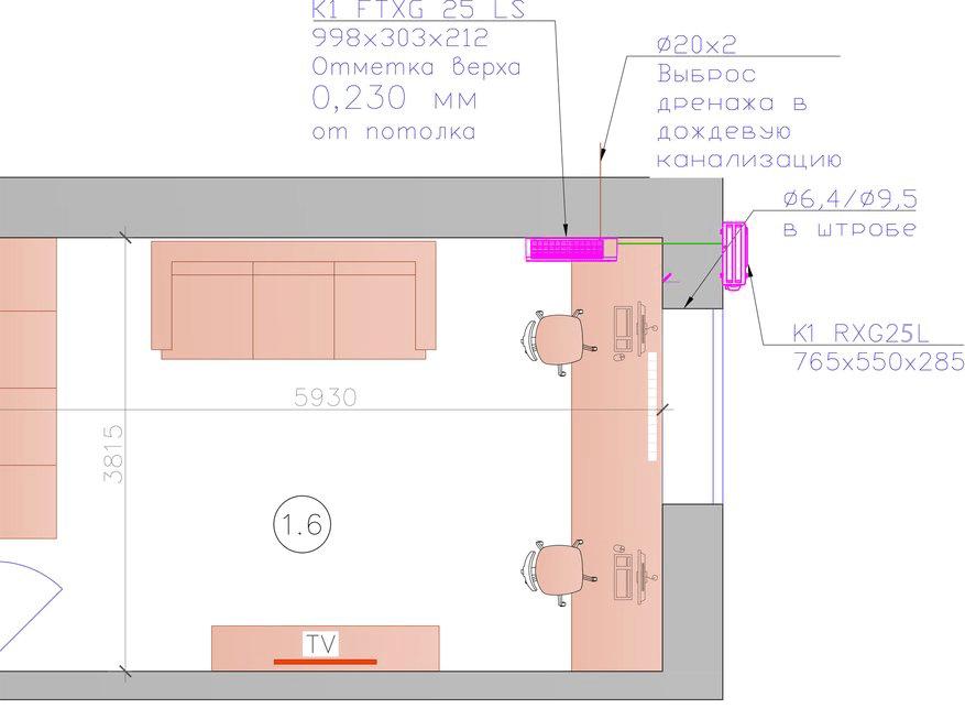 Сплит-система настенного типа для кондиционирования квартиры