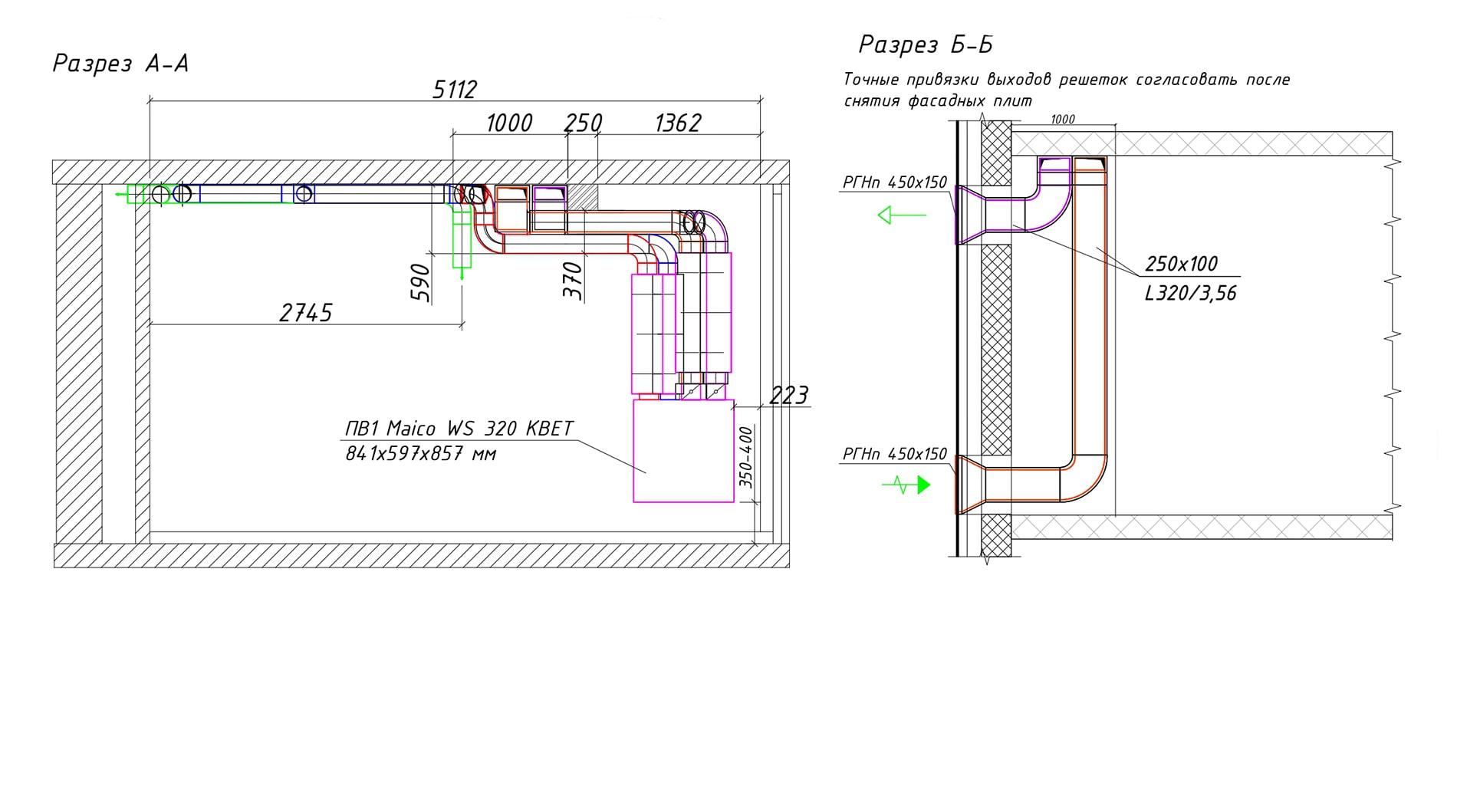 Системы вентиляции в разрезе