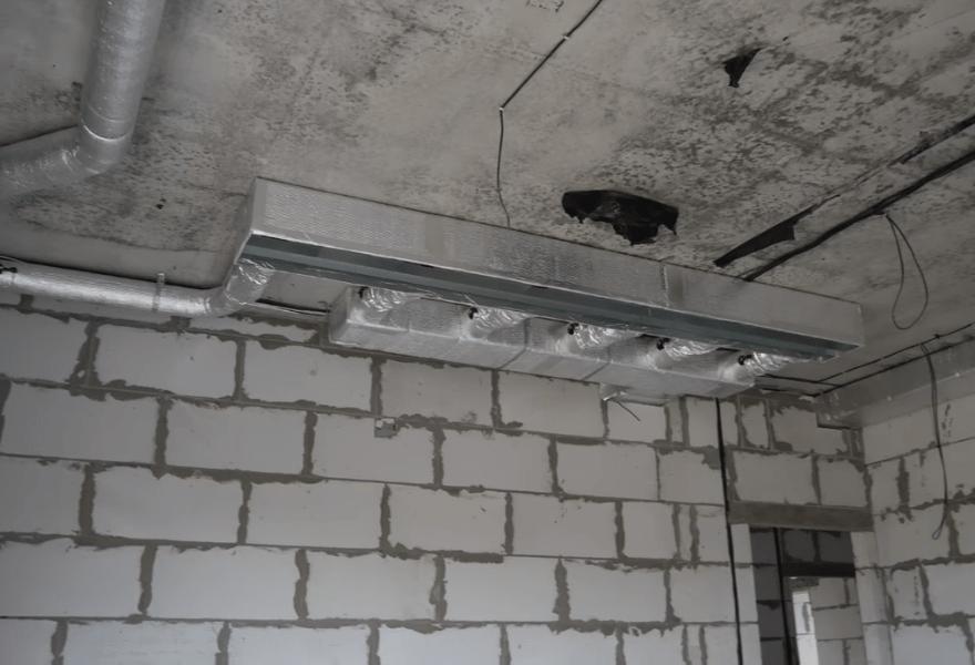 Воздуховоды в квартире (этап монтажа)