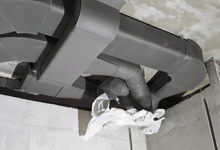 Воздуховоды на этапе реализации