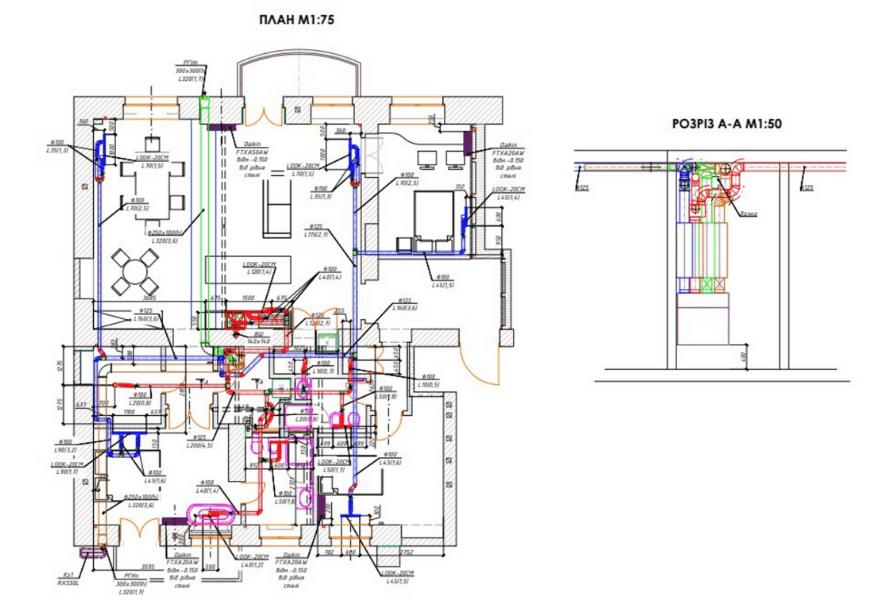 План об'єкта (квартира 145 м2)