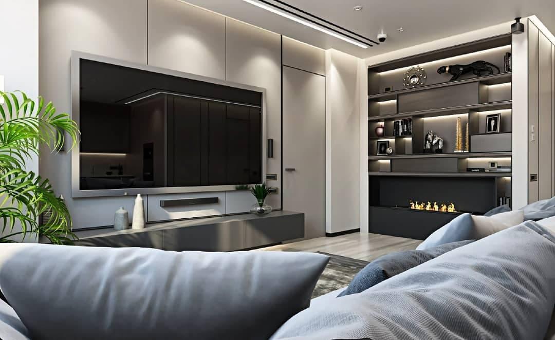 Гостиная согласно дизайн-проекту