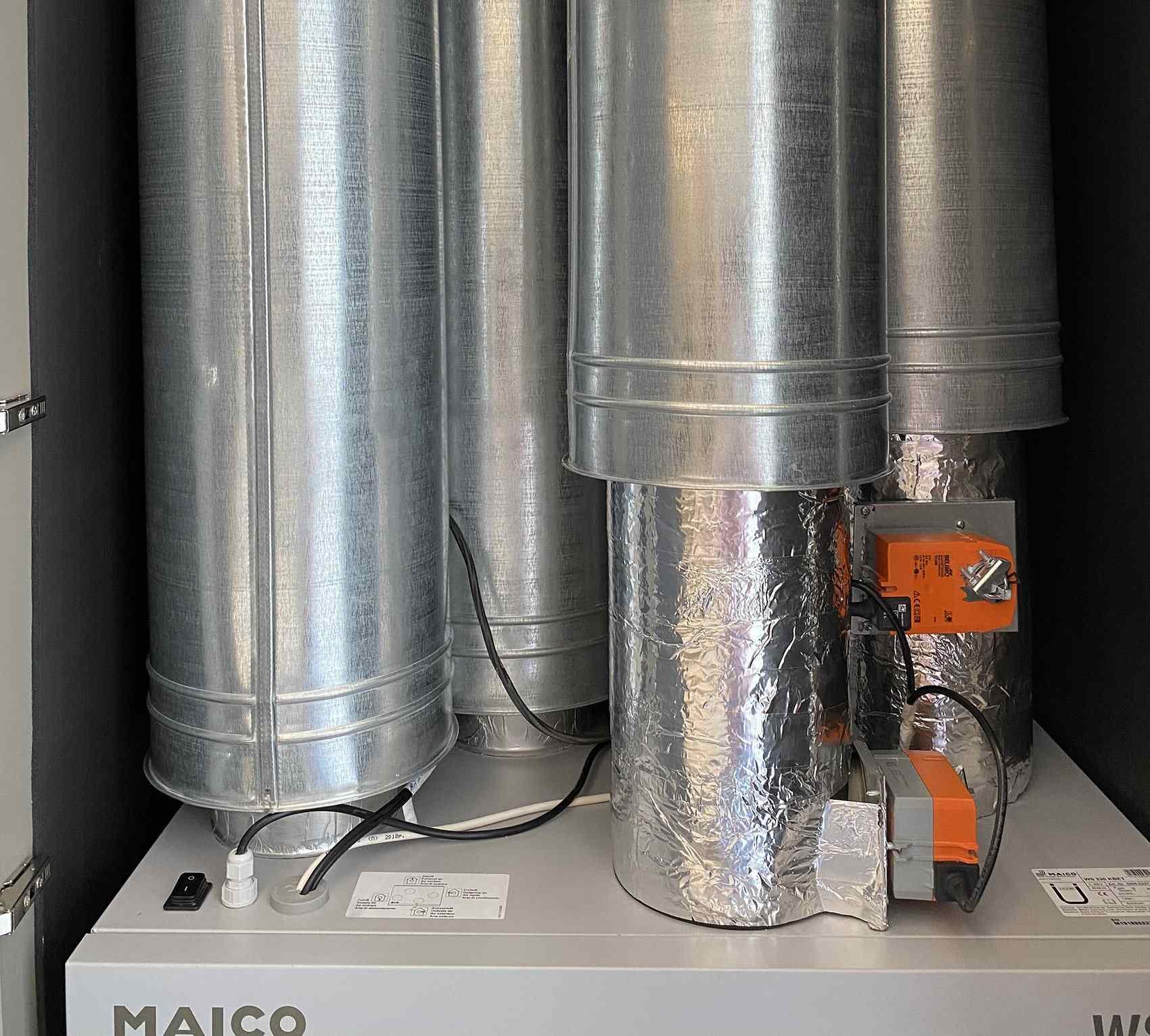 Шумоизоляция приточно-вытяжной установки