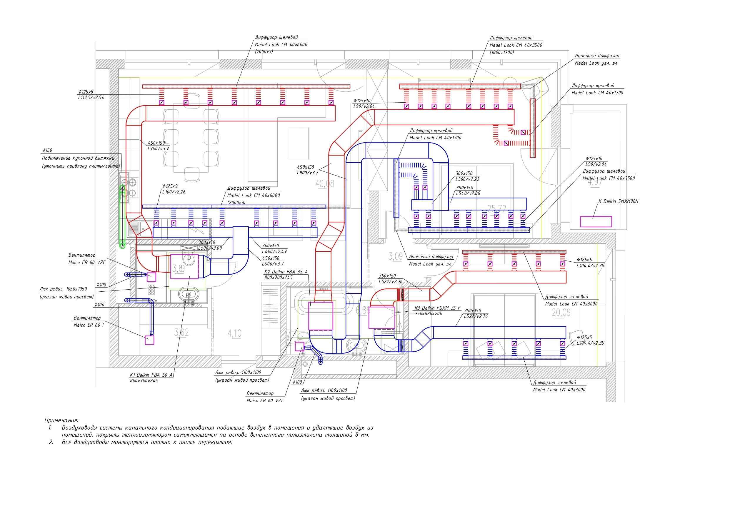 План квартири. Завдання електрикам і сантехнікам. Схема фреонопроводів