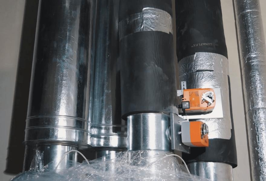 Воздуховоды от установки MAICO WS 320 KB