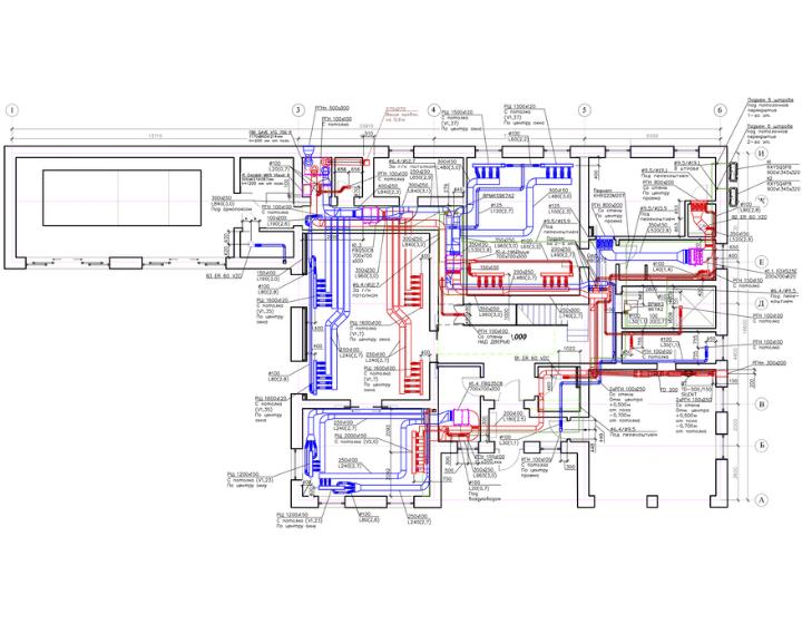 Креслення 1 - проєктування вентиляції, кондиціонування та зволоження повітря у будинку