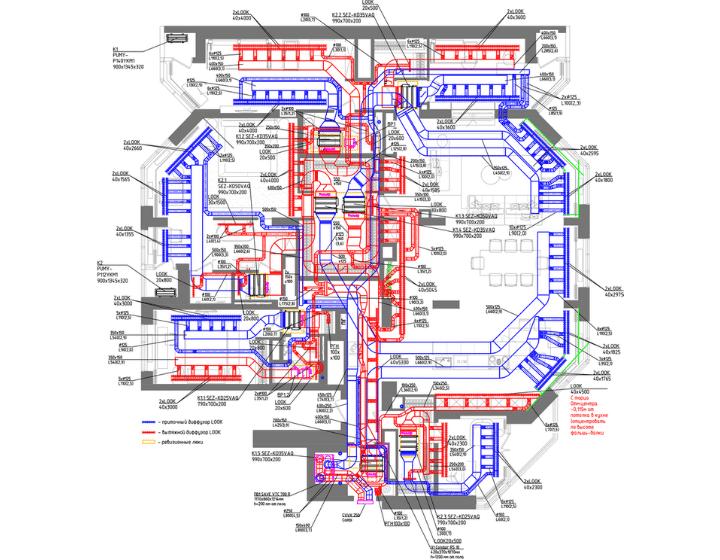 Креслення системи вентиляції та кондиціювання