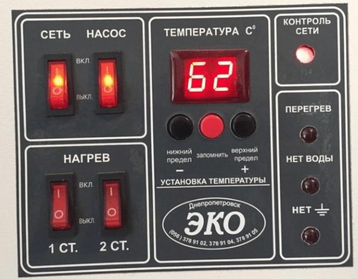 Дисплей электрокотла