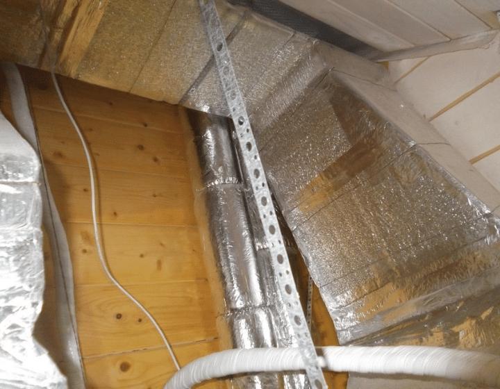Кліматичні системи для котеджу з дерев'яного бруса