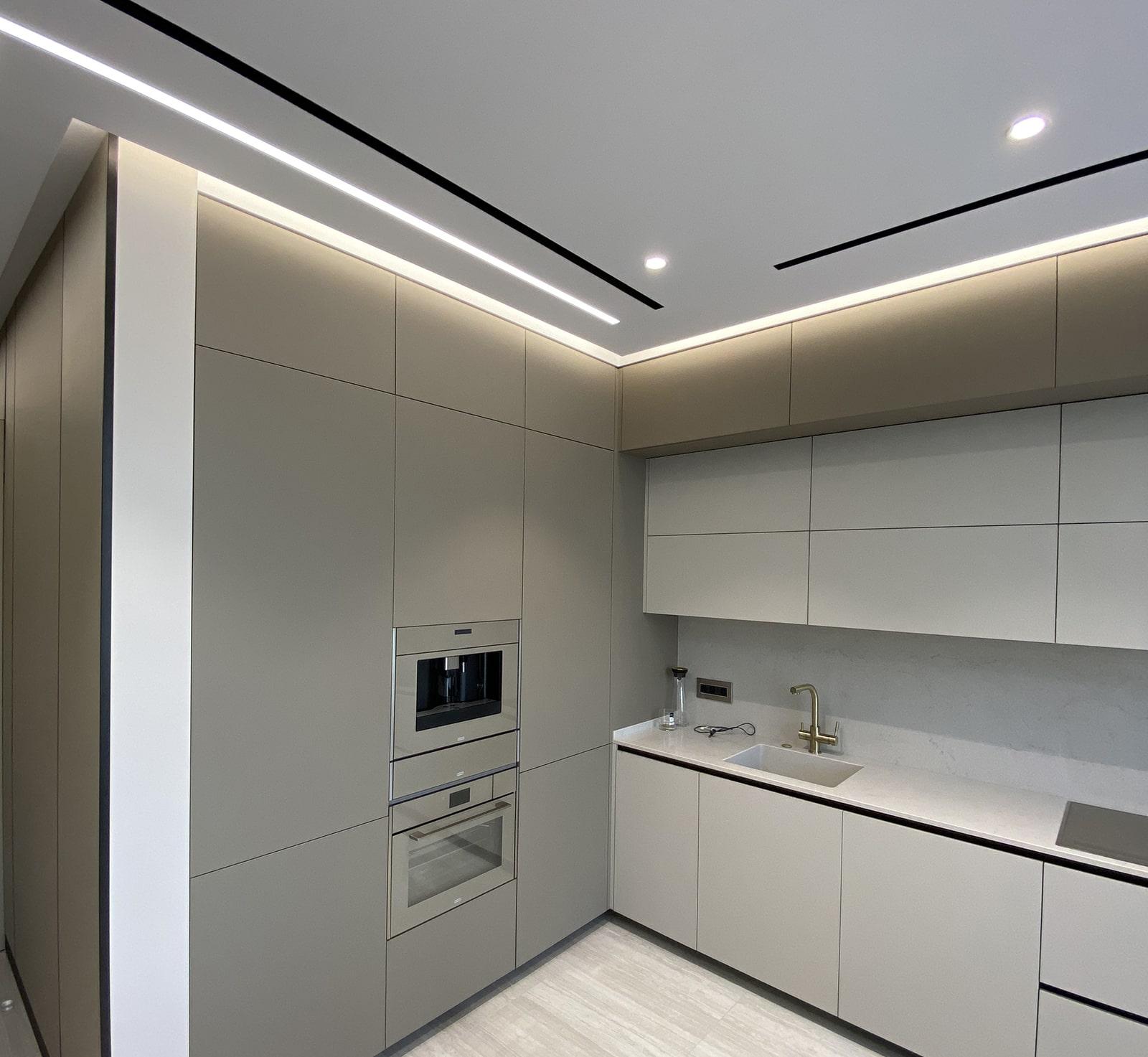 Диффузоры и освещение на кухне