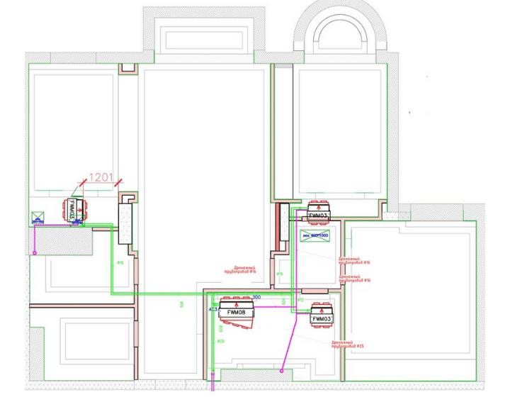 Схема системы вентиляции в элитной квартире от Альтер Эйр