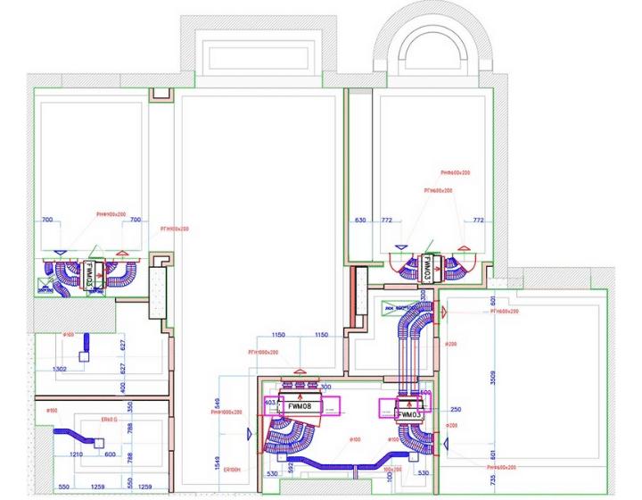 Схема системы кондиционирования в квартире - Альтер Эйр