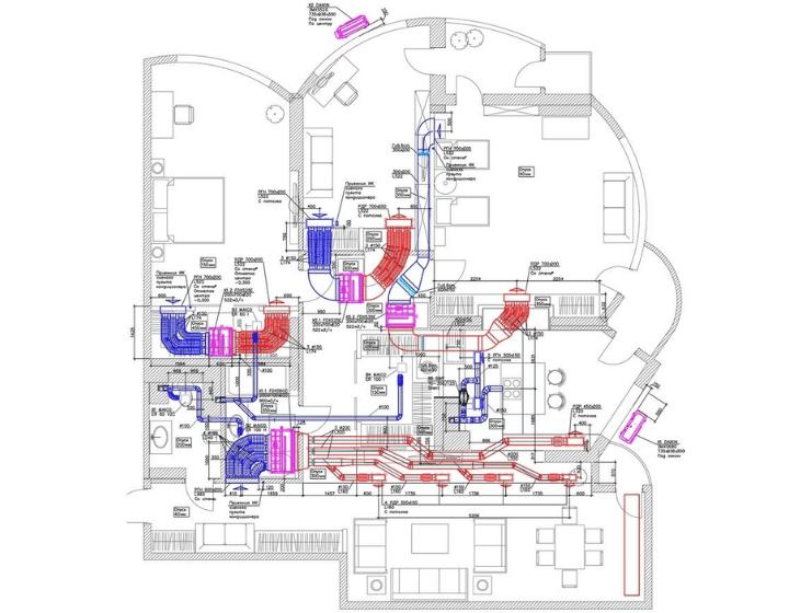 Схема вентиляции квартиры на ул. Механизаторов - Альтер Эйр